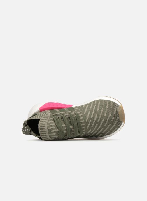 Trainers adidas originals Nmd_R2 Pk W Green view from the left
