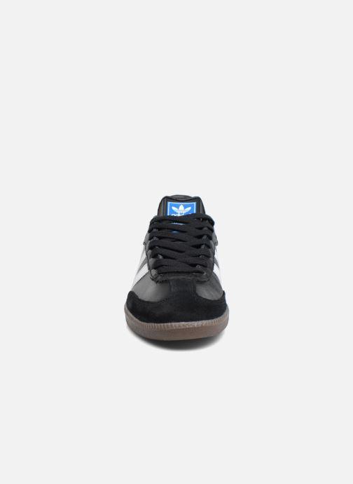 Baskets adidas originals Samba Og Noir vue portées chaussures