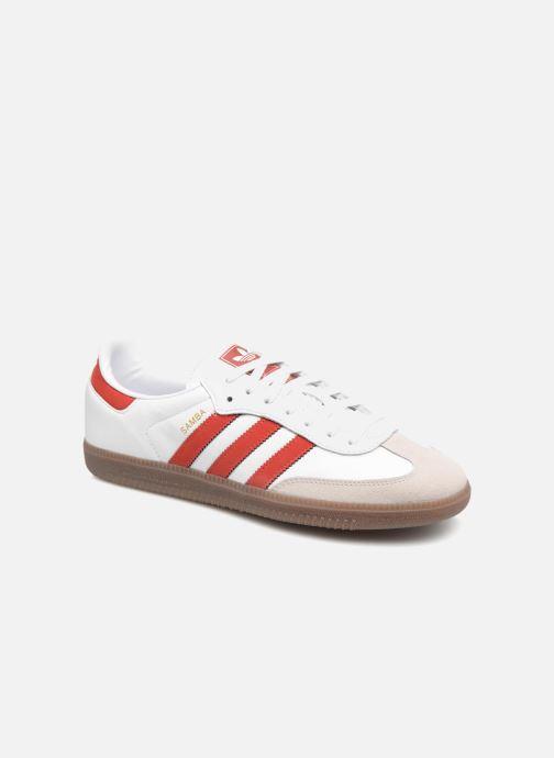 Deportivas adidas originals Samba Og Rojo vista de detalle / par
