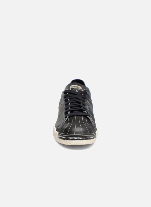 Sneaker adidas originals Superstar 80S Decon schwarz schuhe getragen