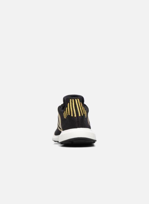 Baskets Adidas Originals Swift Run W Or et bronze vue droite