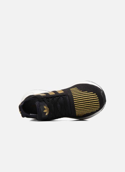 Baskets Adidas Originals Swift Run W Or et bronze vue gauche
