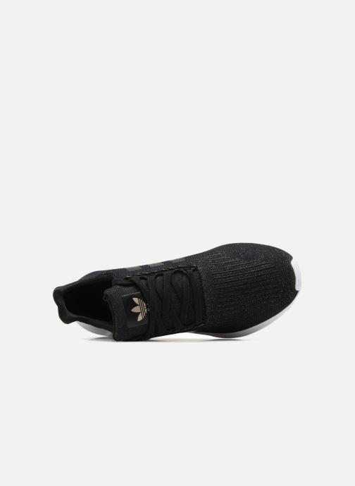 Sneaker adidas originals Swift Run W schwarz ansicht von links