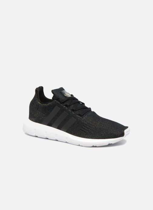 Deportivas adidas originals Swift Run W Negro vista de detalle / par