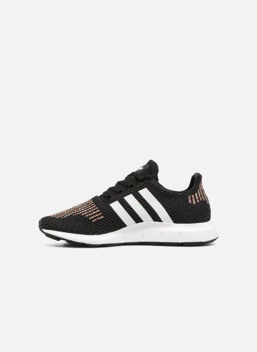 Sneaker adidas originals Swift Run W schwarz ansicht von vorne