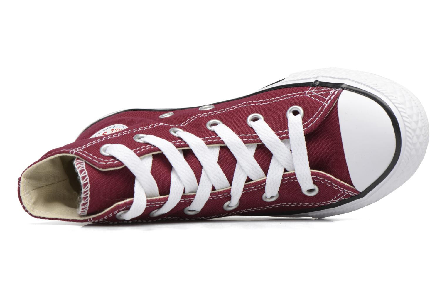 Trainers Converse Chuck Taylor Hi Burgundy view from the left