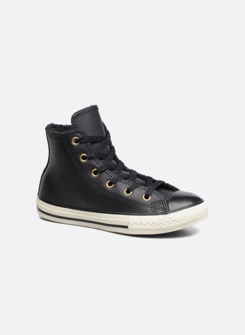 Converse Chuck Taylor All Star Leather Hi (Noir) - Baskets ...