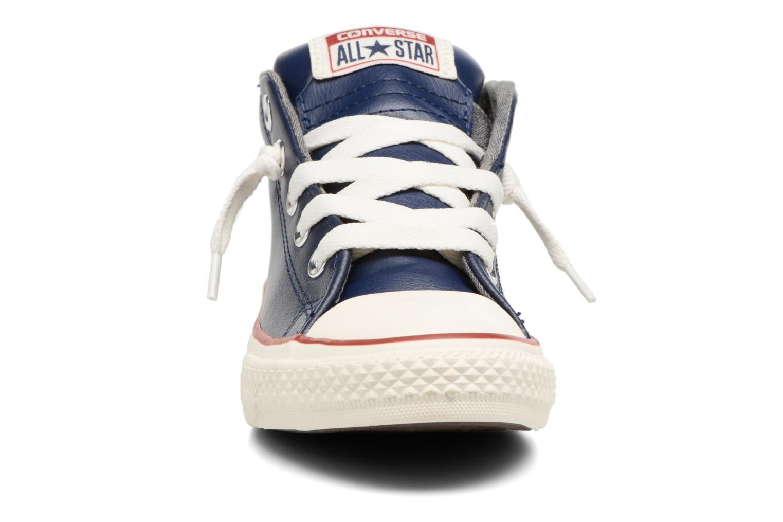 Baskets Converse Chuck Taylor All Star Street Holiday Fundamentals Mid Bleu vue portées chaussures