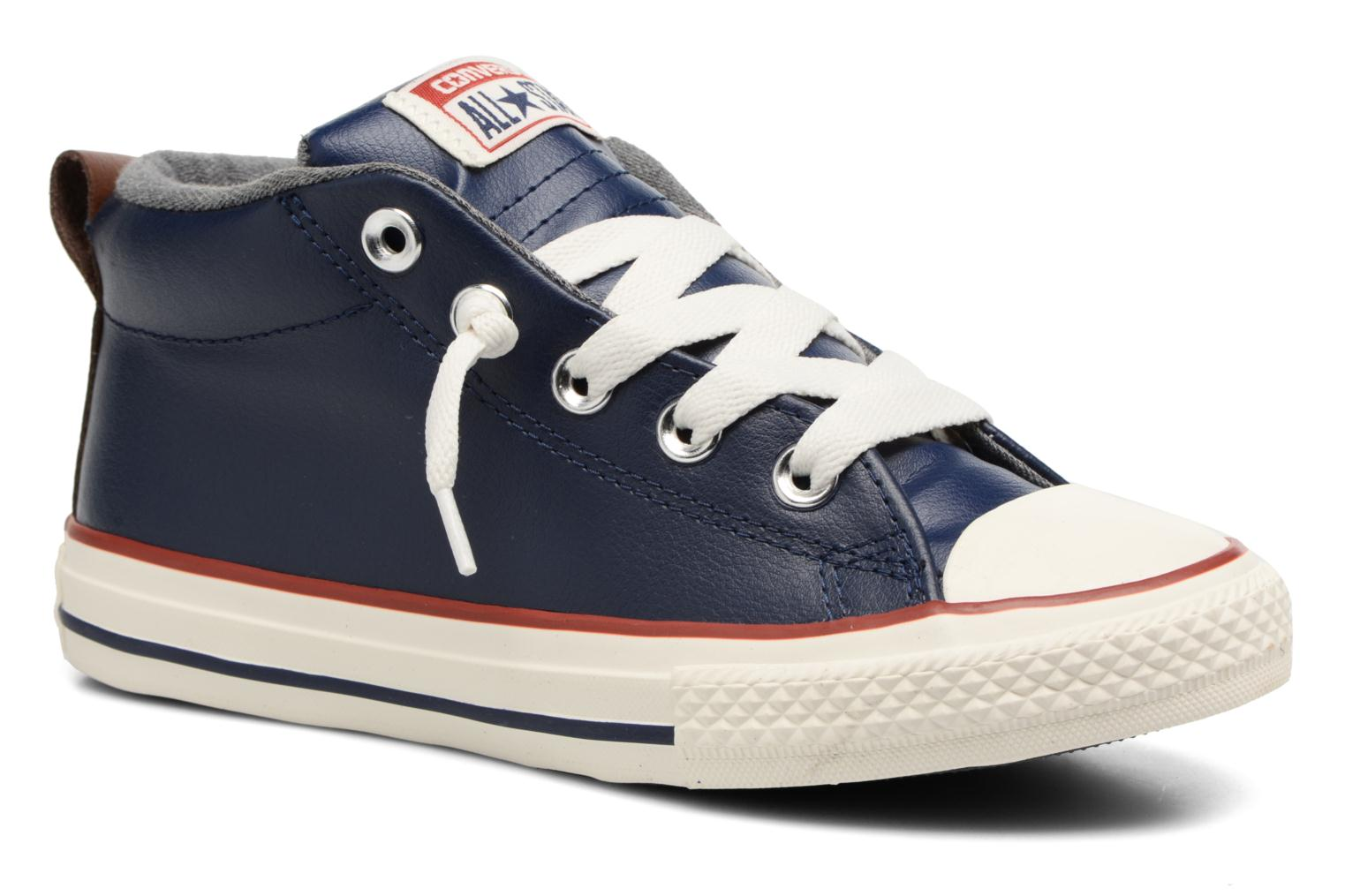 Baskets Converse Chuck Taylor All Star Street Holiday Fundamentals Mid Bleu vue détail/paire