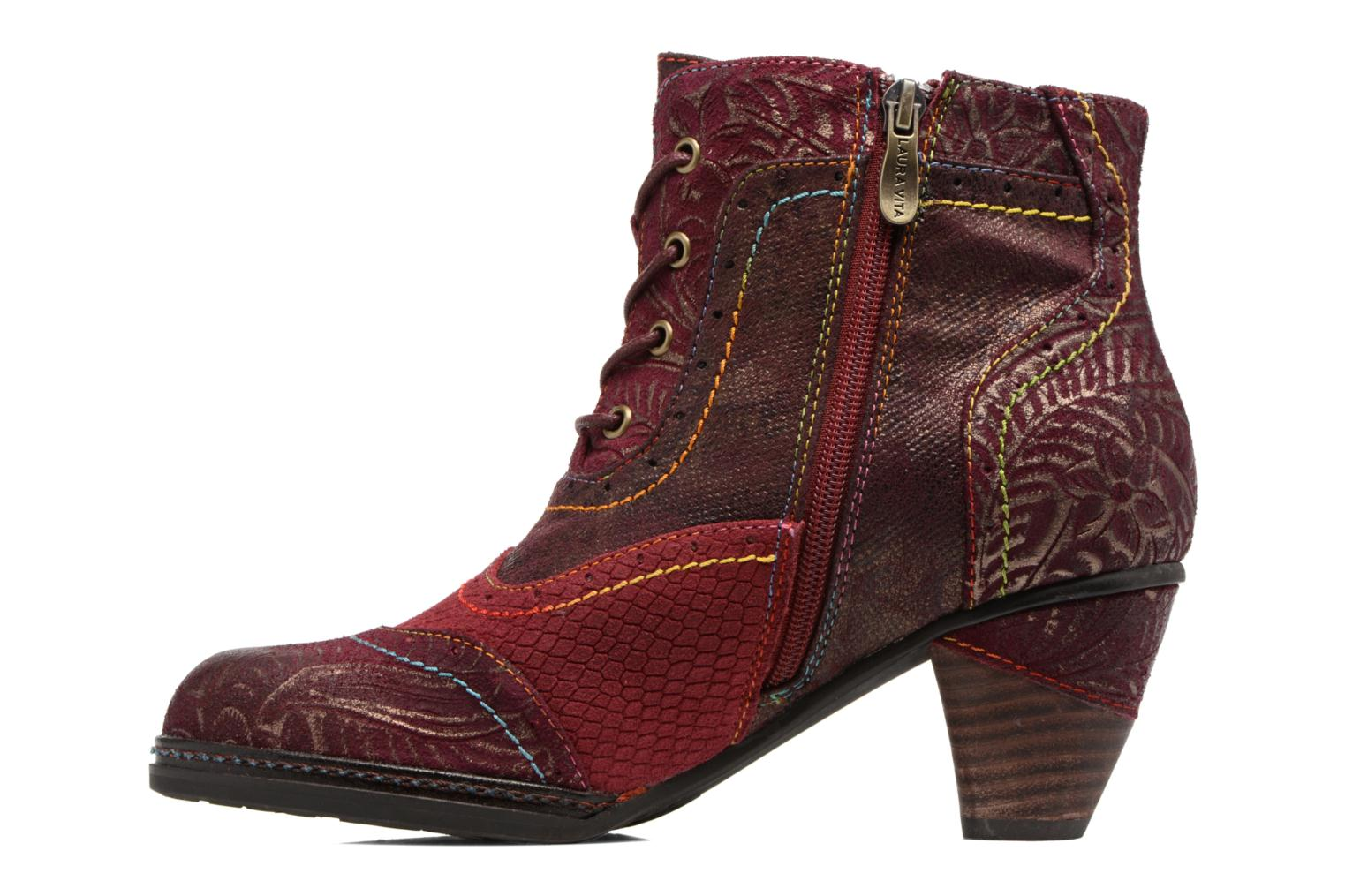 Ankle boots Laura Vita Alizee 30 Burgundy front view