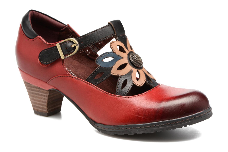 High heels Laura Vita Alissa 07 Red detailed view/ Pair view