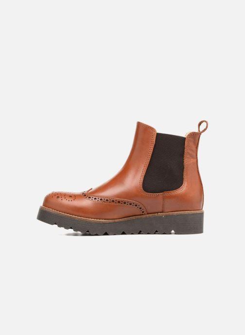 Bottines et boots Yep Papillon Marron vue face
