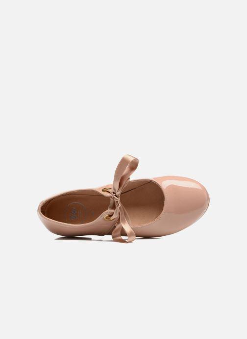 Ballerinas Yep Oriane rosa ansicht von links