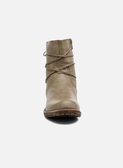 Bottes Bullboxer Manona Beige vue portées chaussures