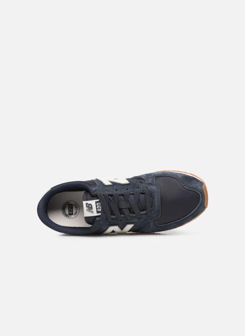 Sneaker New Balance U420 D blau ansicht von links