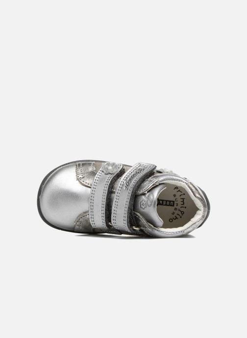 Zapatos con velcro Primigi Gabelica Plateado vista lateral izquierda