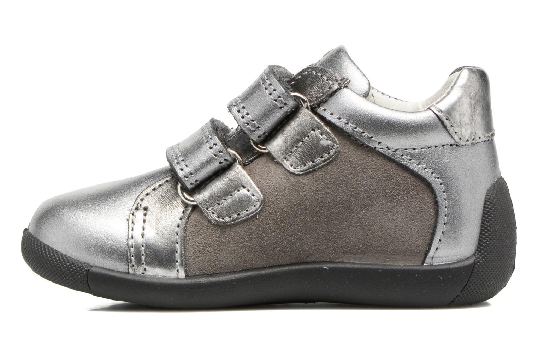 Velcro shoes Primigi Gabelica Silver front view