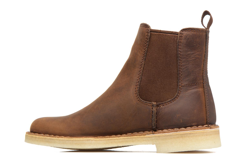 Ankle boots Clarks Originals DESERT PEAK W Brown front view