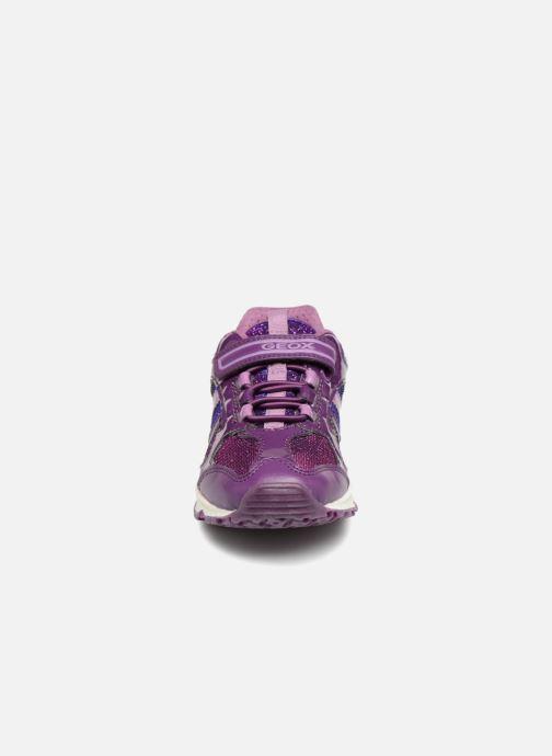 Baskets Geox J Bernie G. D  J7411D Violet vue portées chaussures