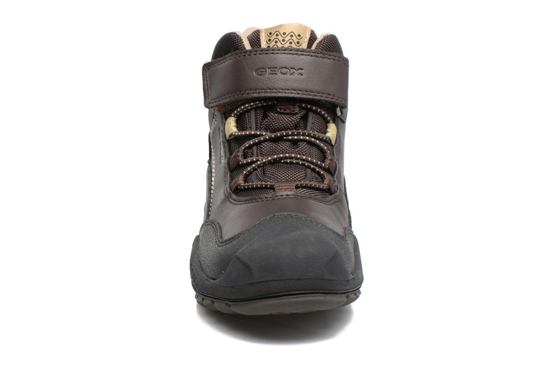 Bottines et boots Geox J N.Savage B.B J741WA Marron vue portées chaussures