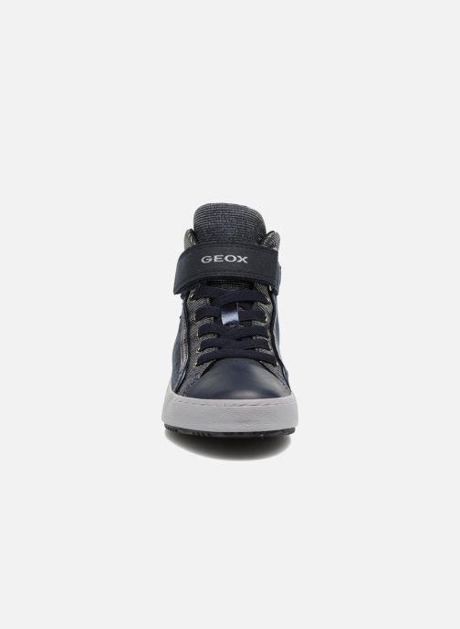 Sneakers Geox J Kalispera G.I J744GI Azzurro modello indossato