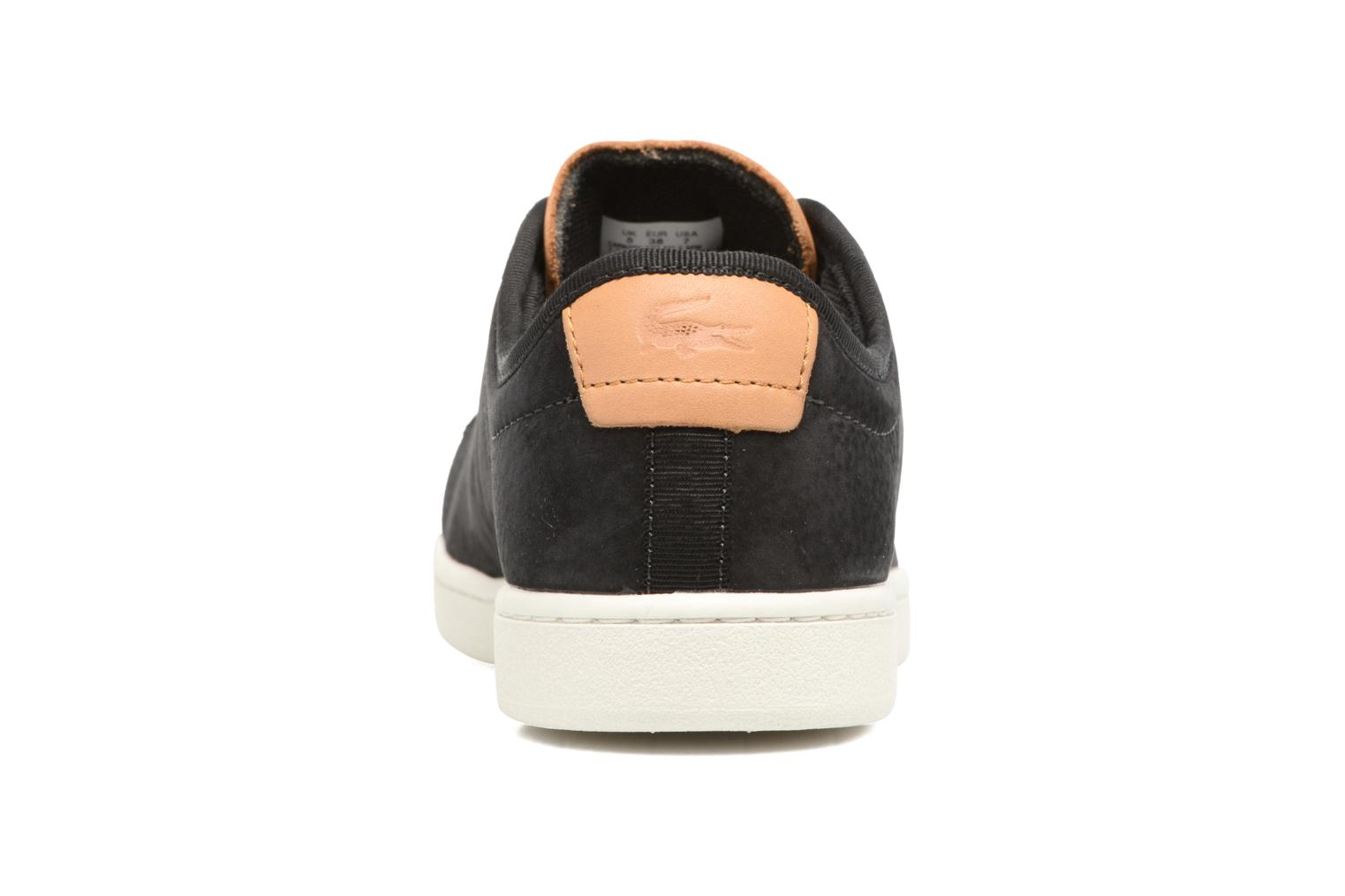 Baskets Lacoste CARNABY EVO 317 8 Noir vue droite