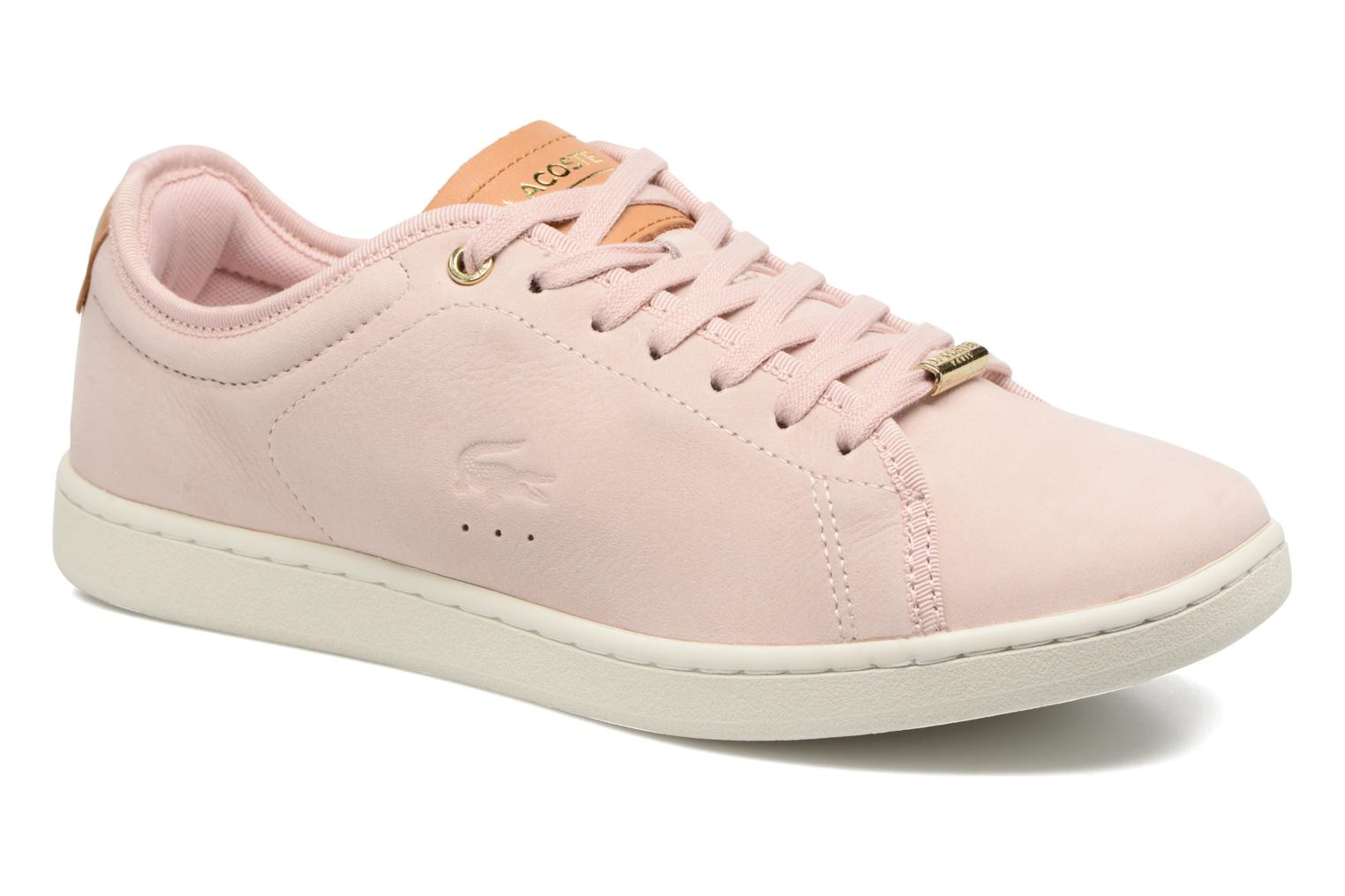 Baskets Lacoste CARNABY EVO 317 8 Rose vue détail/paire