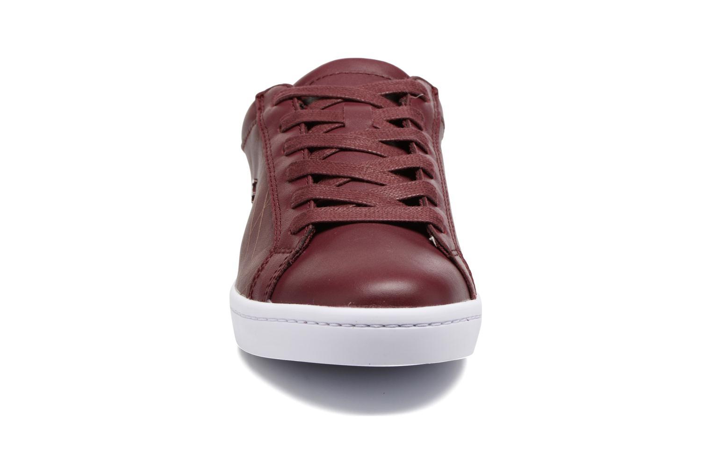 Baskets Lacoste Straightset Lace 417 1 Bordeaux vue portées chaussures