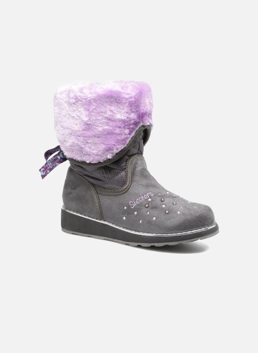 Støvler & gummistøvler Skechers Sparkle Spell Fold n Fab Grå detaljeret billede af skoene