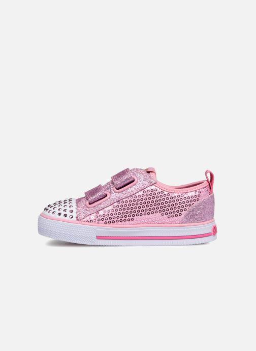 Sneakers Skechers Shuffles Itsy Bitsy Roze voorkant
