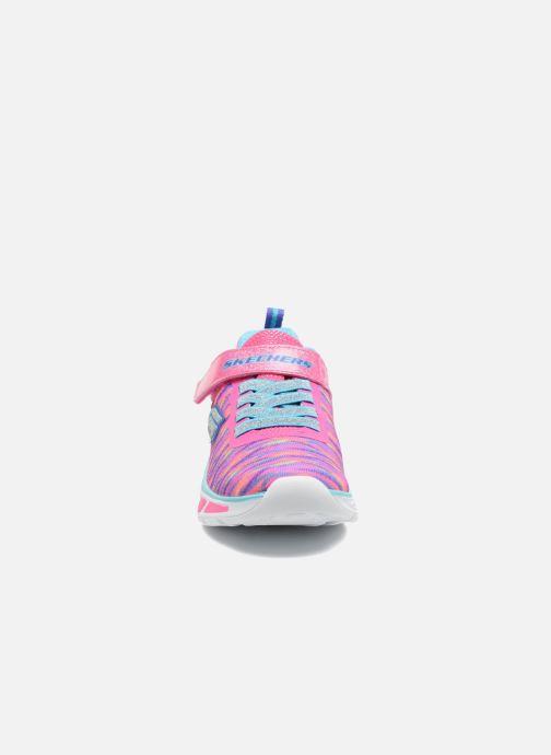 Sneaker Skechers Litebeams Colorburst rosa schuhe getragen