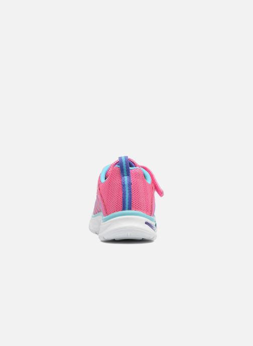 Deportivas Skechers Litebeams Colorburst Rosa vista lateral derecha