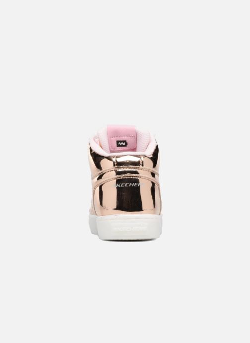 Baskets Skechers Energy Lights Or et bronze vue droite