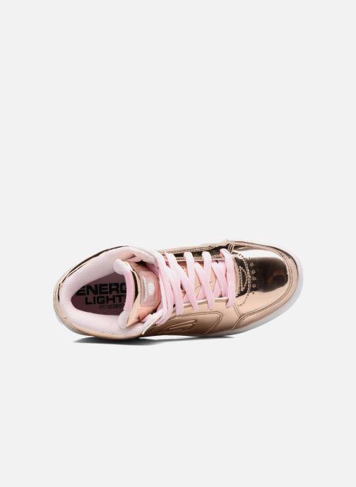 Sneakers Skechers Energy Lights Guld og bronze se fra venstre