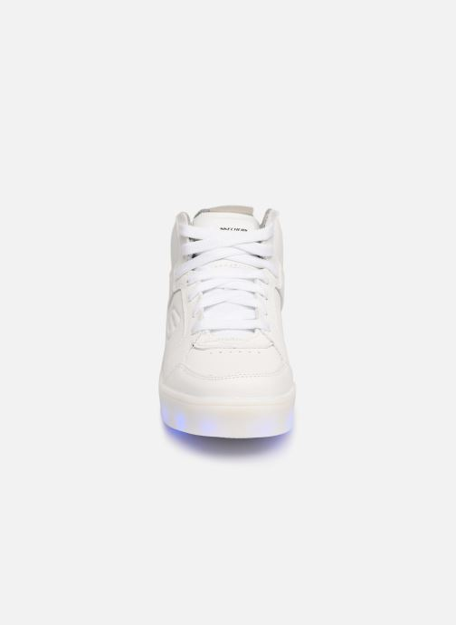 Baskets Skechers Energy Lights Blanc vue portées chaussures