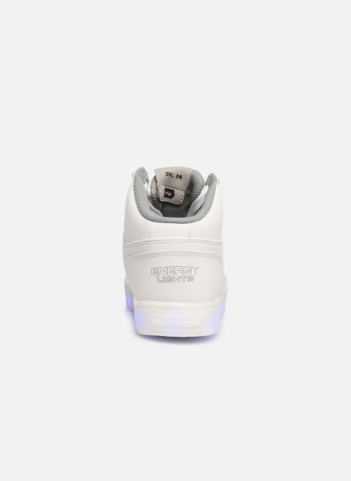 Trainers Skechers Energy Lights White view from the right