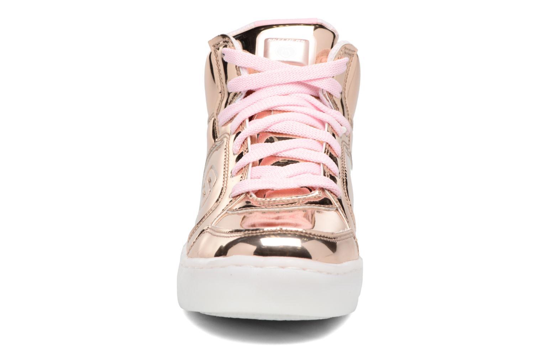 Baskets Skechers Energy Lights Or et bronze vue portées chaussures