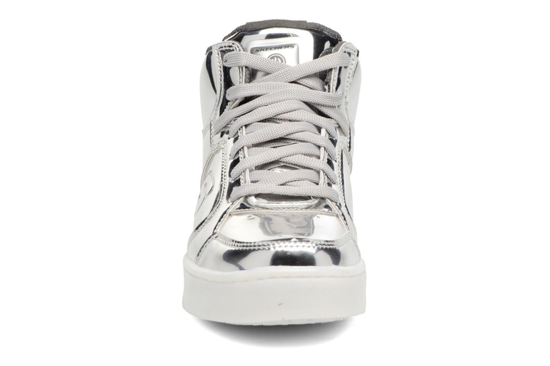 Baskets Skechers Energy Lights Argent vue portées chaussures