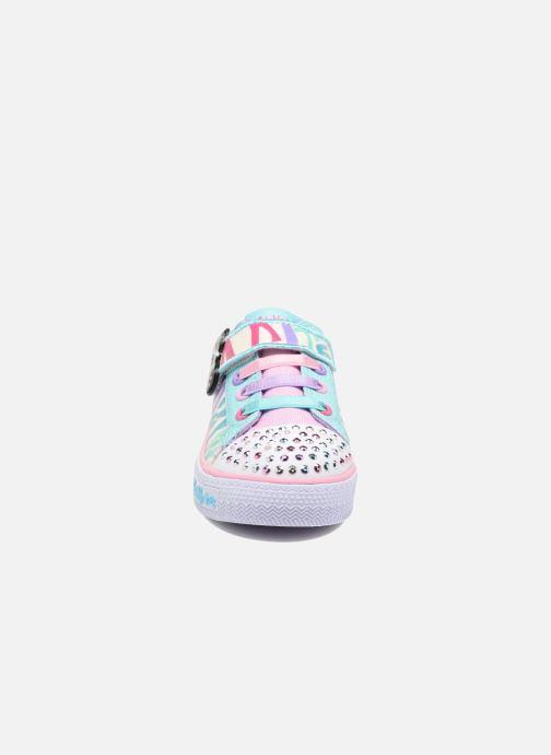Sneakers Skechers Shuffles Party Pets Multicolore modello indossato