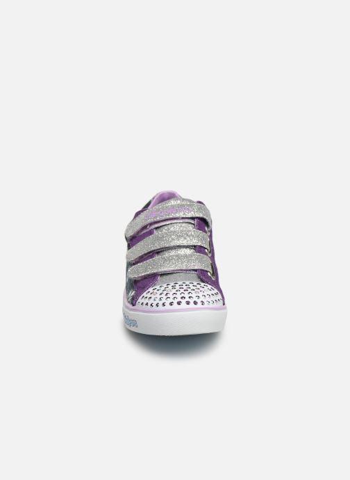 Baskets Skechers Sparkle Glitz Violet vue portées chaussures