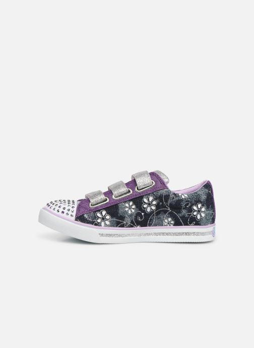 Baskets Skechers Sparkle Glitz Violet vue face