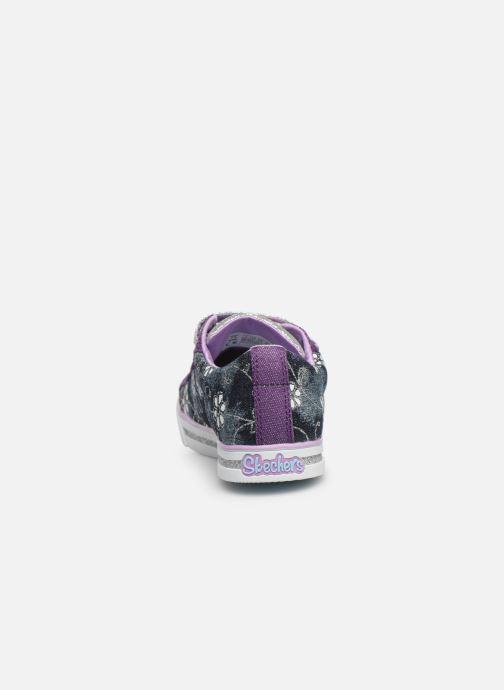Baskets Skechers Sparkle Glitz Violet vue droite