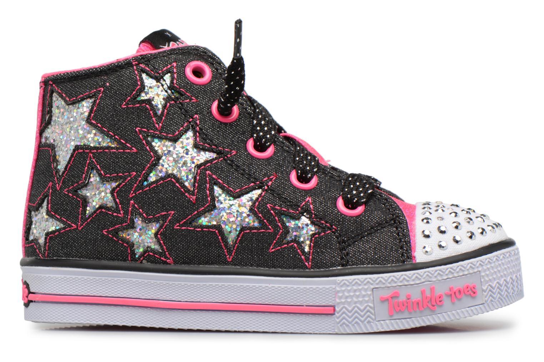 Sneakers Skechers Shuffles Lil Rockin Stars Zwart achterkant