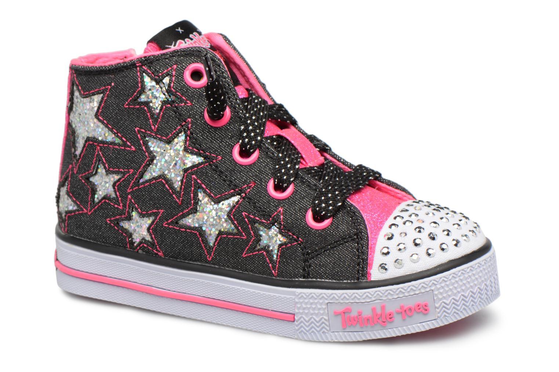 Sneakers Skechers Shuffles Lil Rockin Stars Zwart detail
