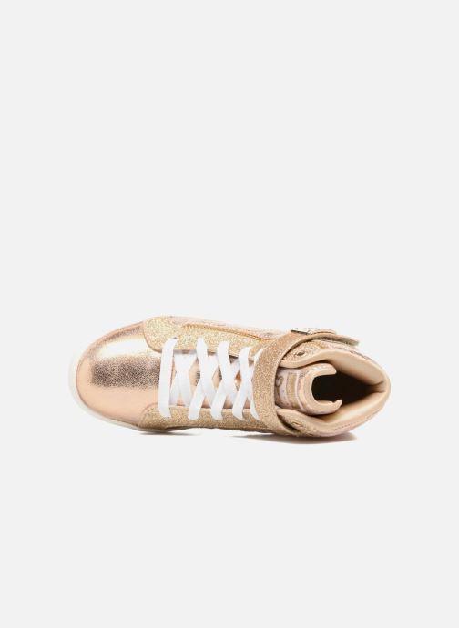Sneaker Skechers Shoutouts Quilted Crush gold/bronze ansicht von links