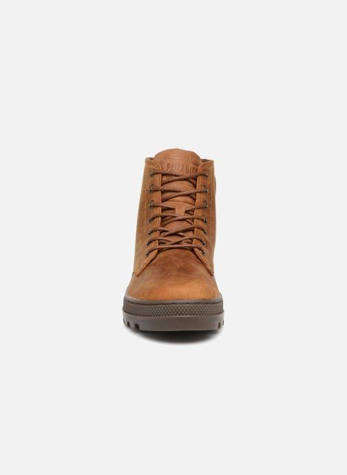 Bottines et boots Palladium Pallabosse Mid Marron vue portées chaussures