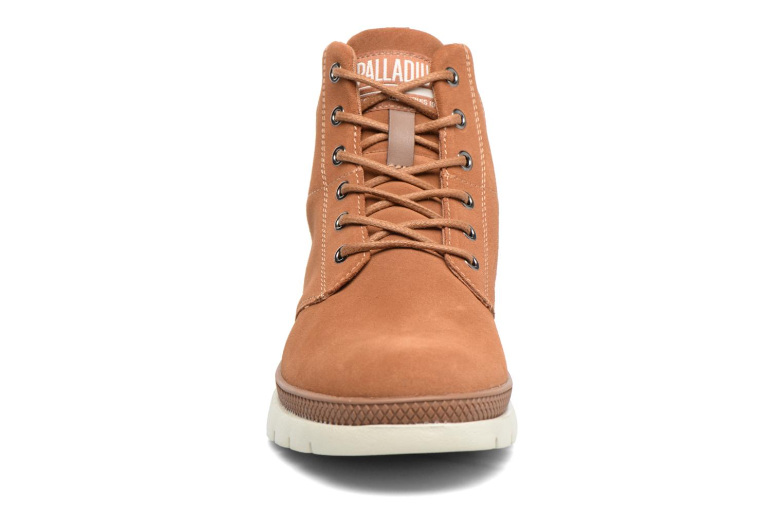 Bottines et boots Palladium Pallasider Mid Sue Marron vue portées chaussures