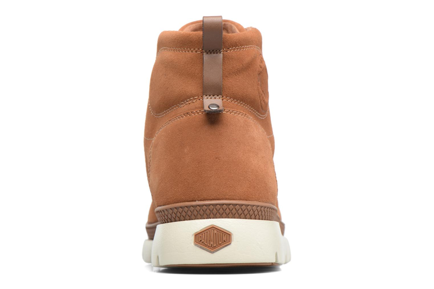 Ankle boots Palladium Pallasider Mid Sue Brown view from the right