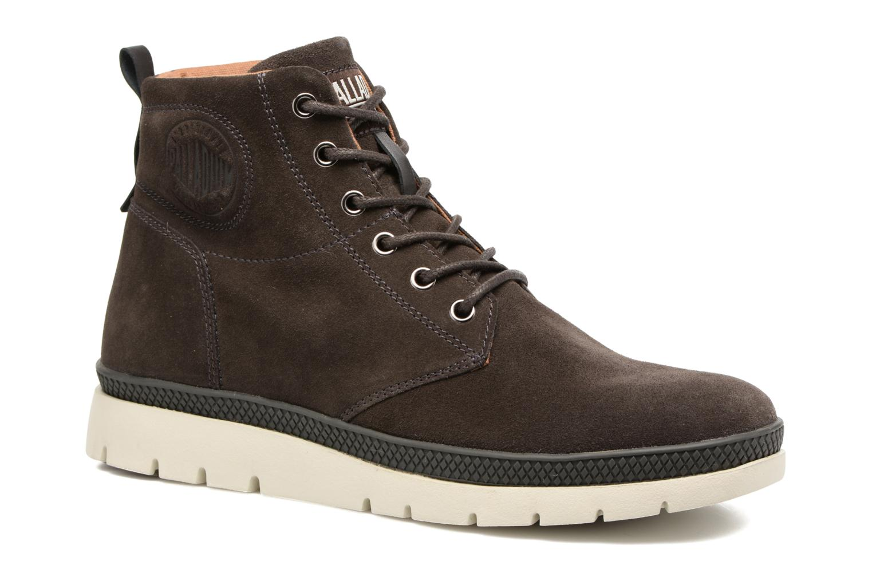 Boots en enkellaarsjes Palladium Pallasider Mid Sue Bruin detail