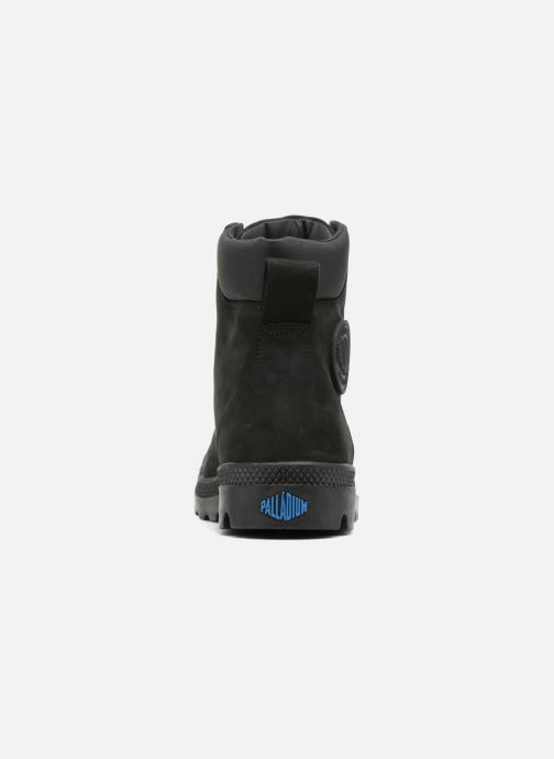 Ankle boots Palladium Pampa Cuff WP LUX M Black view from the right